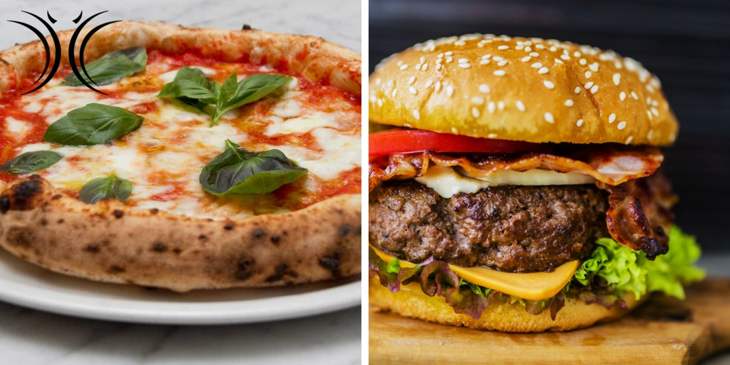 Pizza Vs Hamburger Ristorante Angeli E Demoni